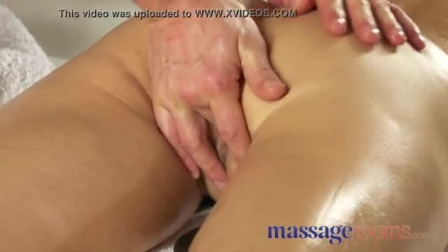 Massage Rooms Slender raven Russian loves pussy eating and sensual fuck