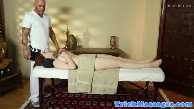 Hugetits babe loves masseurs hard cock