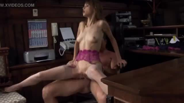 Petite Beata fucked in nude thigh high stockings