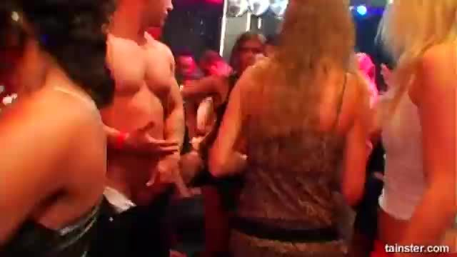 Awesome club babes fucking in public