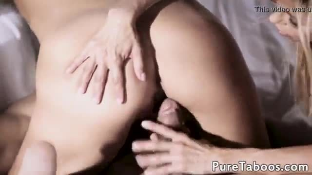 Teenage stepdaughter has trio with stepmom